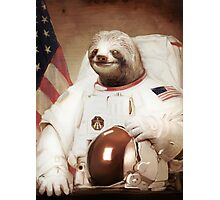 Sloth Astronaut Photographic Print