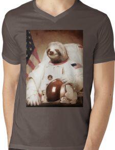 Sloth Astronaut Mens V-Neck T-Shirt