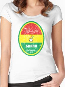 World Cup Football - Ghana Women's Fitted Scoop T-Shirt