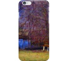 Restful Bench Beside Lake iPhone Case/Skin