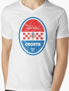 World Cup Football - Croatia Mens V-Neck T-Shirt