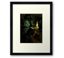 Touch The Flame Framed Print