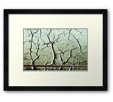Abstract Peeling Paint Framed Print