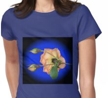 Orange Wildfire - Rose and Buds Womens Fitted T-Shirt