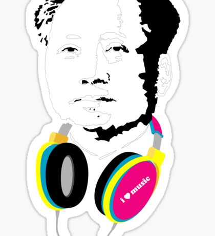MAO LOVES MUSIC Sticker