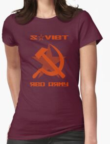 SOVIET RED ARMY HAMMER & SICKLE Womens Fitted T-Shirt