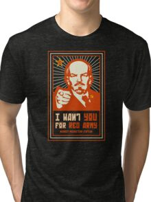 SOVIET RED ARMY I WANT YOU Tri-blend T-Shirt