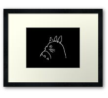 Anime cartoon Framed Print