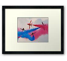 Red Arrows Break Framed Print