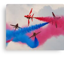 Red Arrows Break Canvas Print