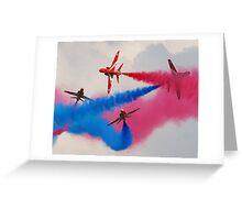 Red Arrows Break Greeting Card