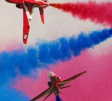 Red Arrows Break Sticker