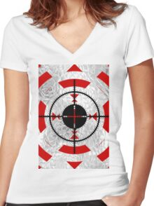 SNIPPER TARGET Women's Fitted V-Neck T-Shirt