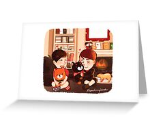 d&p living room  Greeting Card