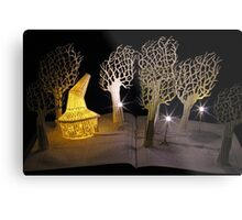 Witches Magic Garden book sculpture Metal Print