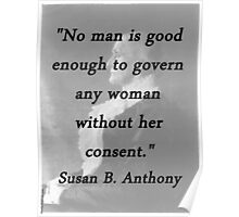 Govern Any Woman - Anthony Poster