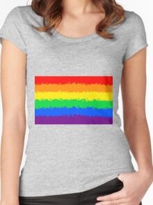 Gay Pride Flag- Retro Women's Fitted Scoop T-Shirt