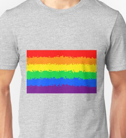 Gay Pride Flag- Retro Unisex T-Shirt