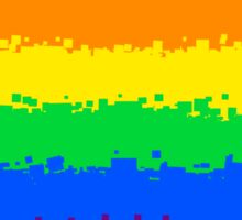 Gay Pride Flag- 8 Bit Sticker