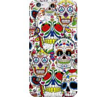 Sugar skull collage 2 iPhone Case/Skin