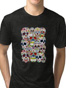 Sugar skull collage 2 Tri-blend T-Shirt