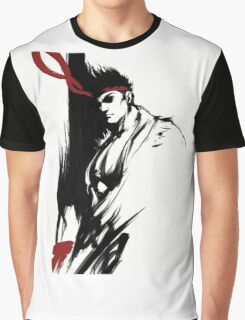 Ryu Stain style Graphic T-Shirt