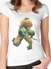 Blanka Street Fighter Women's Fitted Scoop T-Shirt