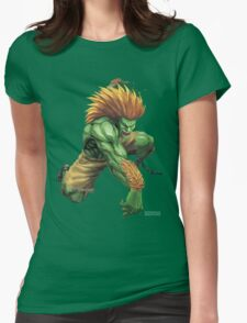 Blanka Street Fighter Womens Fitted T-Shirt