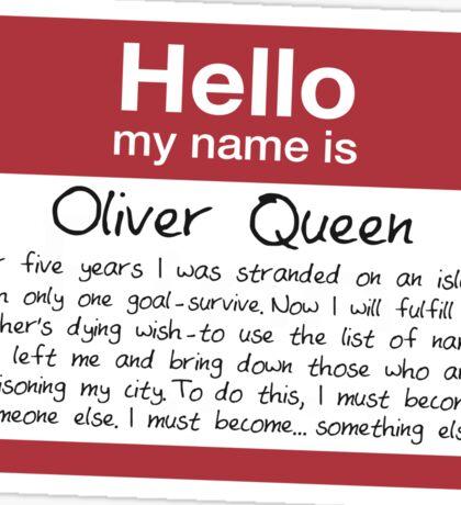 Name's Oliver Sticker