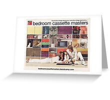 Bedroom Cassette Masters - retro living room Greeting Card