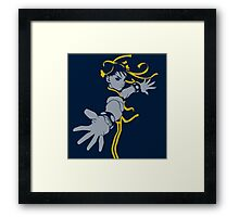 Chun Lee street Fighter Blue Style Framed Print