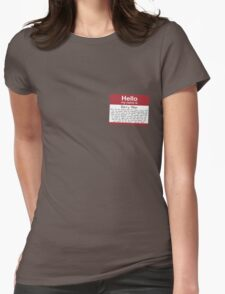 Name's Barry Womens Fitted T-Shirt