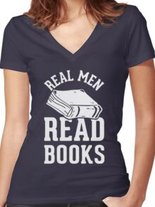 Real Men Read Books Women's Fitted V-Neck T-Shirt