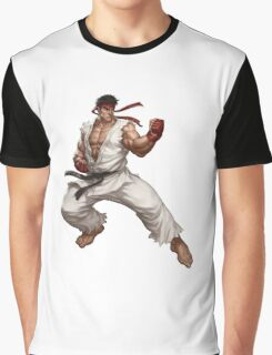 Ryu fight - Street Fighter Graphic T-Shirt
