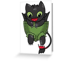Hiccup Toothless pocket Greeting Card