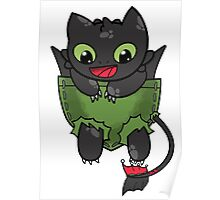 Hiccup Toothless pocket Poster