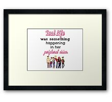 Fangirl by Rainbow Rowell Quote Framed Print