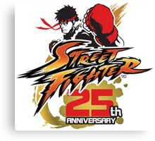 Street Fighter 25th anniversary Canvas Print