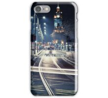 Edinburgh Princess Street at night  iPhone Case/Skin