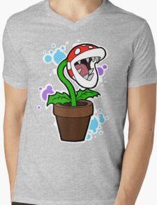 Mario Plant Mens V-Neck T-Shirt