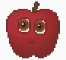 Apple Pixel Smile - White Background Kids Clothes