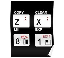 zx81 keyboard logo style Poster