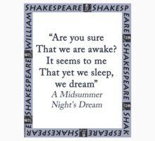 Are You Sure That We Are Awake - Shakespeare Kids Tee