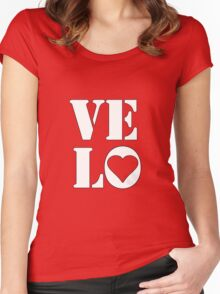 VELO / LOVE TEE Women's Fitted Scoop T-Shirt