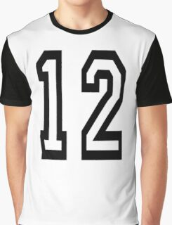 12, TEAM SPORTS, NUMBER 12, TWELVE, TWELFTH, Competition Graphic T-Shirt