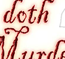 MACBETH, Macbeth doth Murder sleep, Shakespeare, Play, Theater Sticker