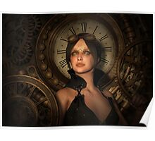 Steampunk Time Keeper Poster