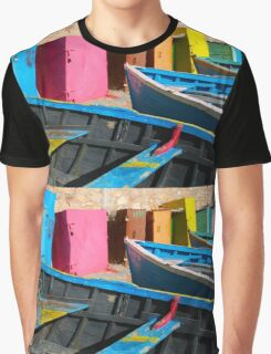 Vintage fishing boats in Essaouira, Morocco Graphic T-Shirt