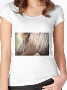 Icelandic Pony  Women's Fitted Scoop T-Shirt