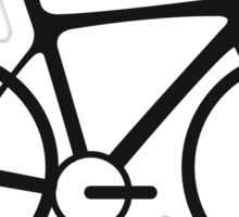 Bicycle, Racing Bike, Road Bike, Racing bicycle, Black on White Sticker